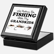 Rather Be Fishing Grandkids Keepsake Box