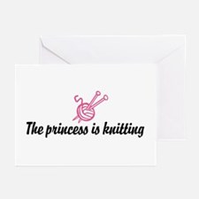 The Princess is Knitting Greeting Cards (Package o