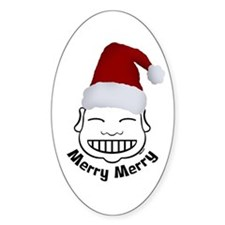 MERRY MERRY Oval Decal