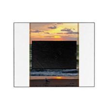 Sunset, seagull, lake, photo Picture Frame