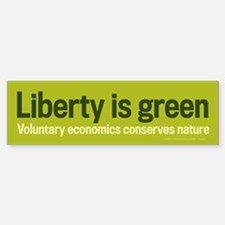 Liberty Is Green Bumper Bumper Bumper Sticker