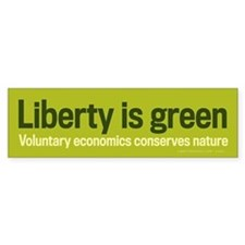 Liberty Is Green Bumper Bumper Sticker