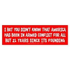 Nation At War Bumper Bumper Sticker