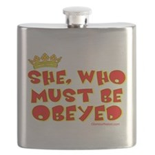 She who must be obeyed red Flask