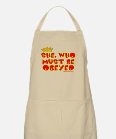 She who must be obeyed red Apron