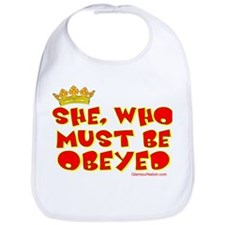 She who must be obeyed red Bib