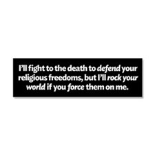 Defending Religious Freedom Car Magnet 10 x 3