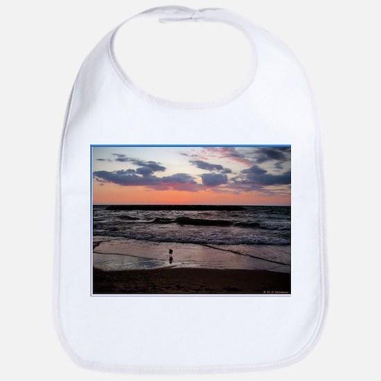 Sunset, seagull, photo! Bib