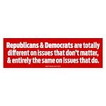 Political Parties Bumper Sticker