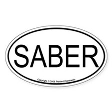 Saber oval Oval Decal