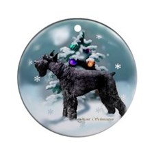 Giant Schnauzer Christmas Ornament (Round)