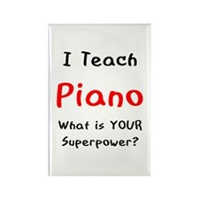 teach piano Rectangle Magnet