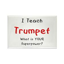 teach trumpet Rectangle Magnet