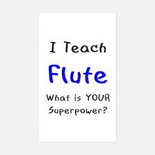teach flute Decal