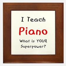 teach piano Framed Tile