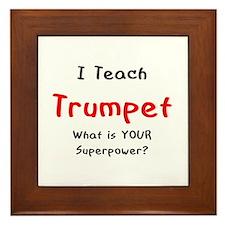 teach trumpet Framed Tile