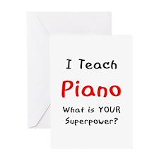 teach piano Greeting Card