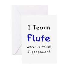 teach flute Greeting Card
