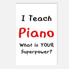 teach piano Postcards (Package of 8)