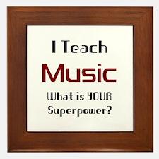 teach music Framed Tile