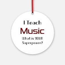 teach music Ornament (Round)
