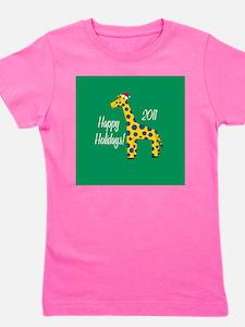 Giraffe Holiday Girl's Tee