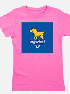 Horse Holiday Girl's Tee