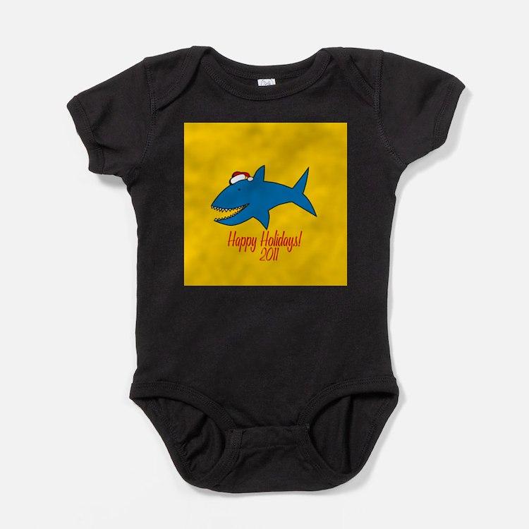Shark Holiday Baby Bodysuit