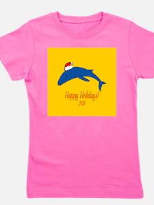 Whale Holiday Girl's Tee