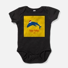 Whale Holiday Baby Bodysuit