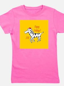 Zebra Holiday Girl's Tee
