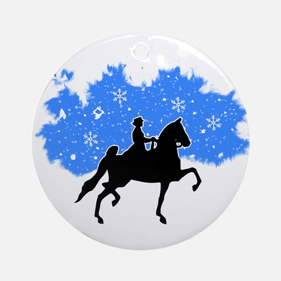 American Saddlebred Snow Ornament (Round)