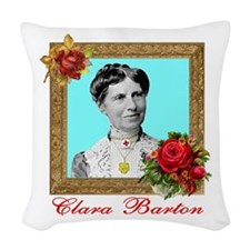 Clara Barton - Nurse Woven Throw Pillow