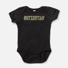 Butterfly with Sore Feet Baby Bodysuit