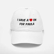 Heart on for Paula Baseball Baseball Cap