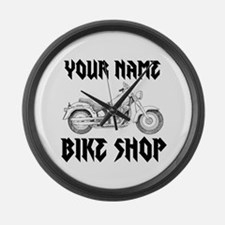 Custom Bike Shop Large Wall Clock