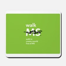 Walk to create a world free of MS Mousepad