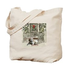 Goldendoodle Christmas Tote Bag