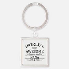 World's Most Awesome Nana Square Keychain