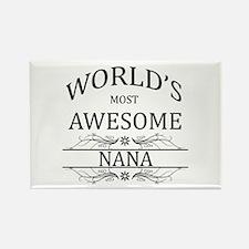 World's Most Awesome Nana Rectangle Magnet (100 pa