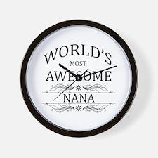 World's Most Awesome Nana Wall Clock