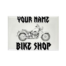 Custom Bike Shop Rectangle Magnet