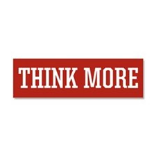 Think More Car Magnet 10 x 3