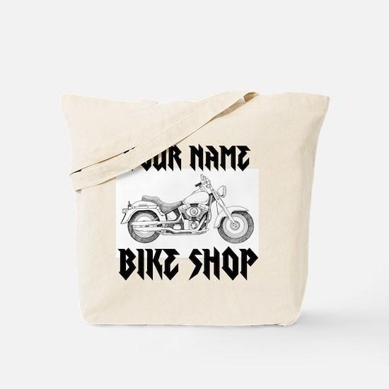 Custom Bike Shop Tote Bag