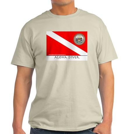 Aloha Scuba Diver Down Flag Light T-Shirt