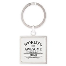 World's Most Awesome Mimi Square Keychain
