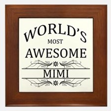 World's Most Awesome Mimi Framed Tile