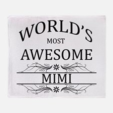 World's Most Awesome Mimi Throw Blanket