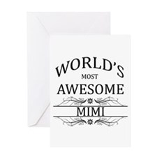 World's Most Awesome Mimi Greeting Card