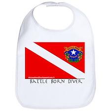 Nevada Battle Born Scuba Diver Flag Bib
